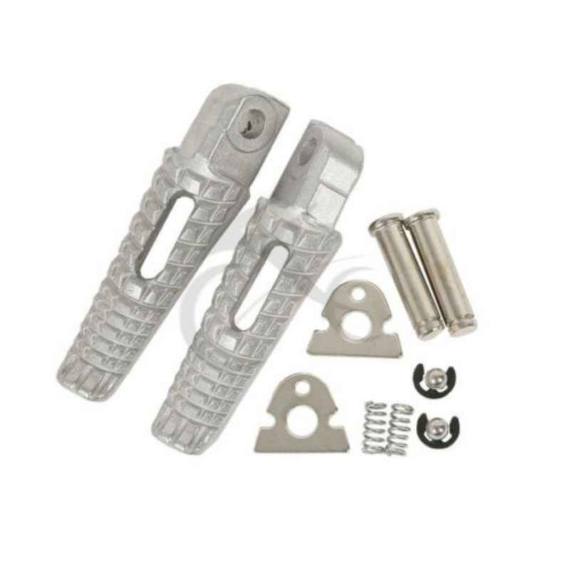 Aluminum Rear Passenger Footrests Foot Pegs For Suzuki GSXR600 GSXR750 06-18 17 16 15 14 13 12 11 00 09 08 GSXR1000 GSXR B-KING