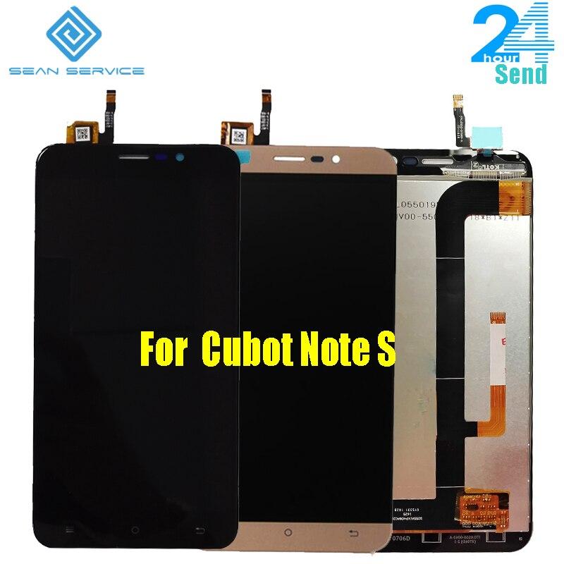 Pour D'origine Cubot Note S LCD Affichage Écran + Tactile En Verre Digitizer Assemblée Remplacement 5.5 1280X720 P Note S Téléphone en stock