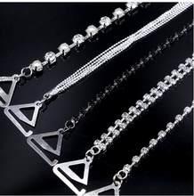 59a074b62 Novo Banhado A Prata Metálico Sexy Alças de Sutiã de Strass Para As Mulheres  de Cristal Elegante Acessórios Lingerie Sutiã Ombro