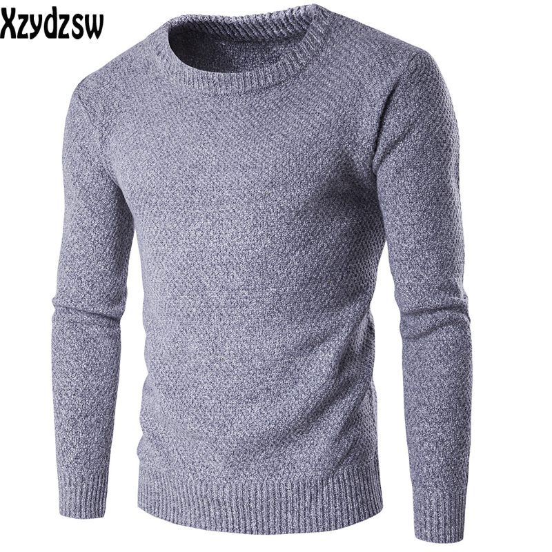 2016 New Casual Sweater Mens Pullovers Men Knit Cashmere Pullovers Men Slim Thinck Long Sleeved Round Neck Wool Sweater For Men