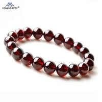 Certificate Starbeauty TOP 100% AAA Garnet Bracelet Femme Wine Red Bracelet Men Jewelry Women Erkek Bileklik Stone Braclet Gift