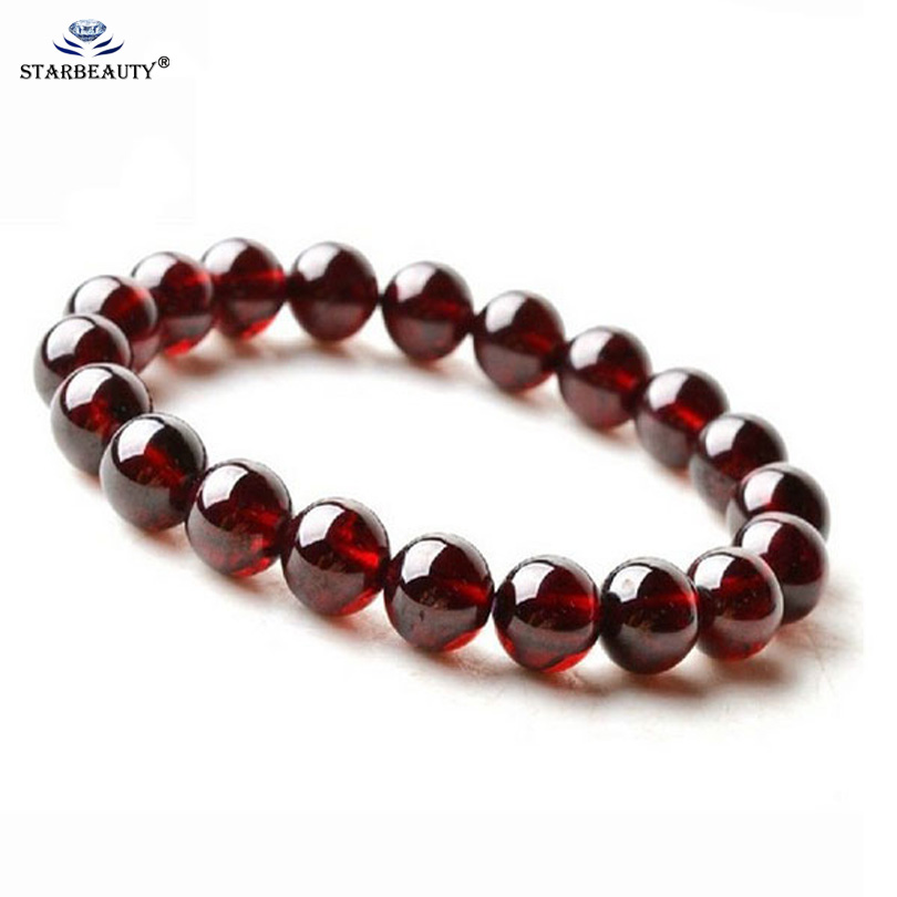 FREE SHIPPING FASHION NATURAL BRAZIL AA GRADE WINE RED GARNET BRACELETS BEAD