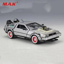 Cheap Kid Children Car Model Toys 1:24 Diecast Car Part 1 2 3 Time Machine DeLorean DMC-12 Model Welly Back To The Future Car(China)