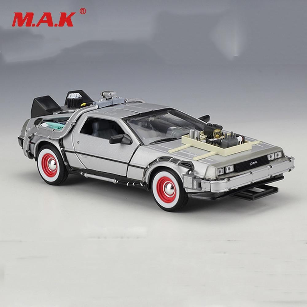Cheap Kid Children Car Model ys 1:24 Diecast Car Part 1 2 3 Time Machine DeLorean DMC-12 Model Welly The Car
