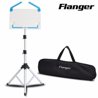 Black White Flanger FL 05 Professional Foldable Small Music Stand Tripod Stand Holder With Carrying Bag Musical Instrument