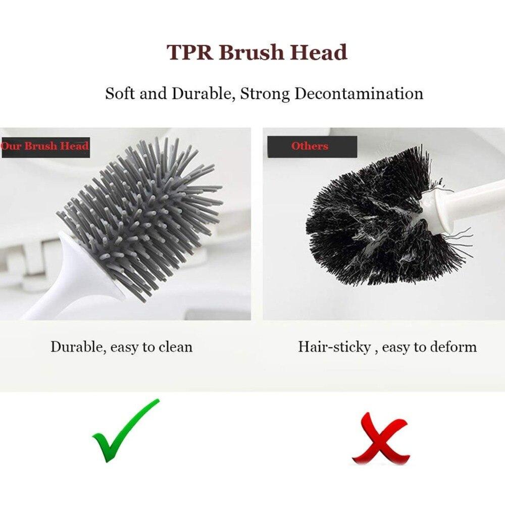 Image 4 - TRP Toilet Brush Head Holder Rubber Toilet Brush Holders Set Cleaner Bathroom Cleaning Tool Holder Brush Bathroom WC Accessories-in Cleaning Brushes from Home & Garden