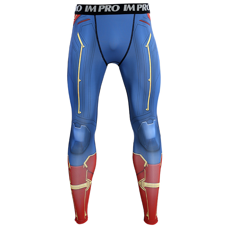 Trousers Male Leggings Printed-Pattern Compression-Tights-Pants Avengers Skinny 3D 4-Captain
