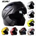 Aprobado por el dot casco de moto con visera interior ilm flip Seguridad de Doble Lente Dual Visor Racing Motocross Dirt Bike casco