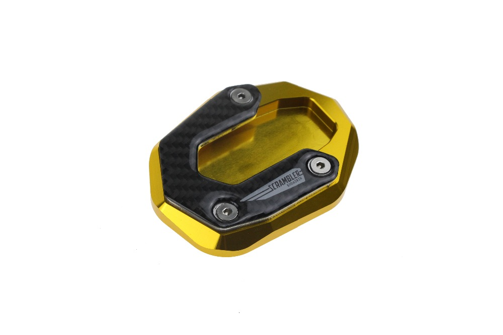 Black PRO-KODASKIN Motorcycle CNC Aluminum Side Stand Enlarge Plate For DUCATI SCRAMBLER ICON