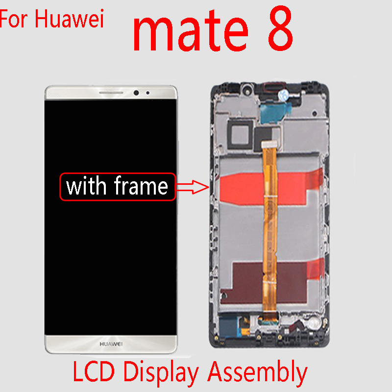 GPadparts Original For huawei mate 8 LCD Display Assembly With Frame for NXT-AL10 touch screen phone ReplacementGPadparts Original For huawei mate 8 LCD Display Assembly With Frame for NXT-AL10 touch screen phone Replacement
