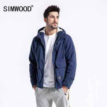 SIMWOOD Brand Winter Jacket Men Casual Slim Fit Thick Coats Fashion Hooded Velvet Parka Mens Plus Size Clothes Male 180531 - DISCOUNT ITEM  49% OFF All Category