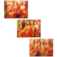 Mujer Sexy Impresiones de la Pintura de Pared Arte Cuerpo Desnudo Arte Encanto Vestido Rojo Dama Pub Bar Wall Art Decor Sin Marco de Lona