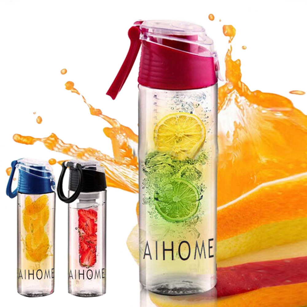 800ml Cycling Sport Fruit Infusing Infuser Water Lemon Juice Bicycle Health Eco-Friendly BPA Detox Bottle Flip Lid 2016