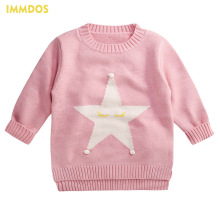 IMMDOS Baby Winter Cardigan Girls Wool Sweaters Children O-Neck Sweater Long Sleeve Christmas Kids Fashion New Year Clothing