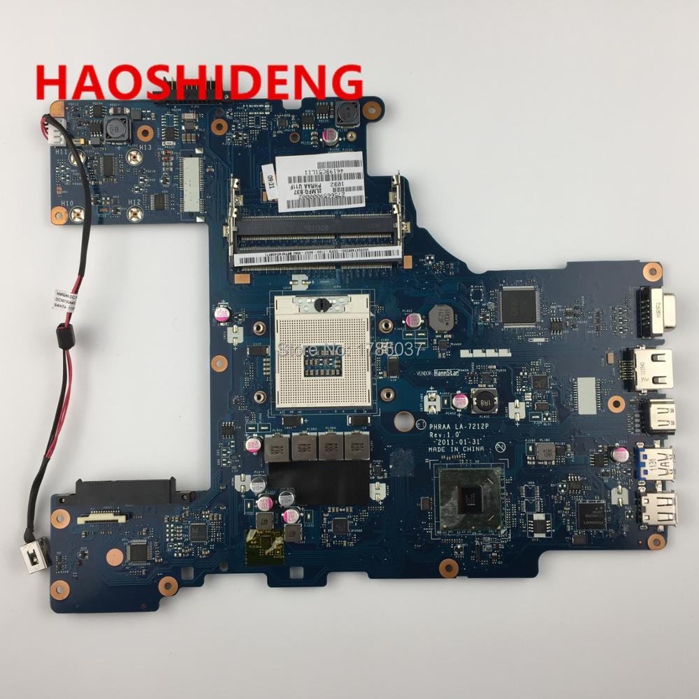 K000128620 LA-7212P for Toshiba Satellite P770 P775 series Laptop Motherboard .All functions fully Tested ! for toshiba satellite l745 l740 intel laptop motherboard a000093450 date5mb16a0 hm65 tested