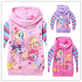 New 2015 Girls Autumn Children Outerwear Cartoon Jackets Coat Hoodies Clothing Roupas Infantil in stock