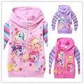 Nuevo 2015 Otoño de Las Muchachas Niños de Dibujos Animados Prendas de Abrigo Chaquetas Sudaderas Ropa Roupas infantil en stock