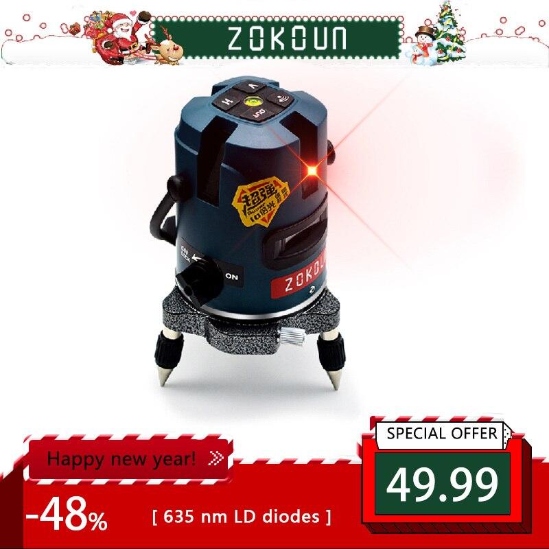 UE plug Zokoun 5 lignes 6 points auto-nivellement tilt slash fonctionnelle 360 degrés rotatif en plein air mode OK laser niveau outils