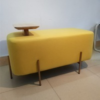 Living room furniture Sofa Chair Bench 90*45*42CM(Table High 8cm) Ottoman Stool Linon Cotton fabric with304 stainless steel legs