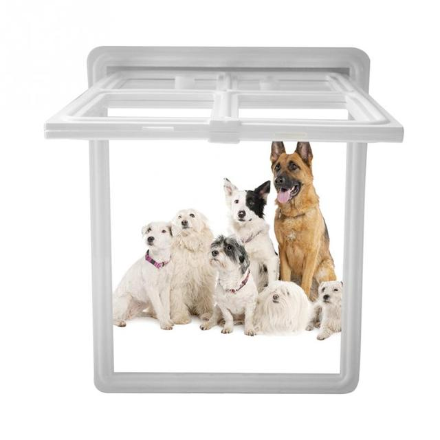 Plastic Pet Dog Puppy Cat Door Magnetic Locking Safe Flap For Screen
