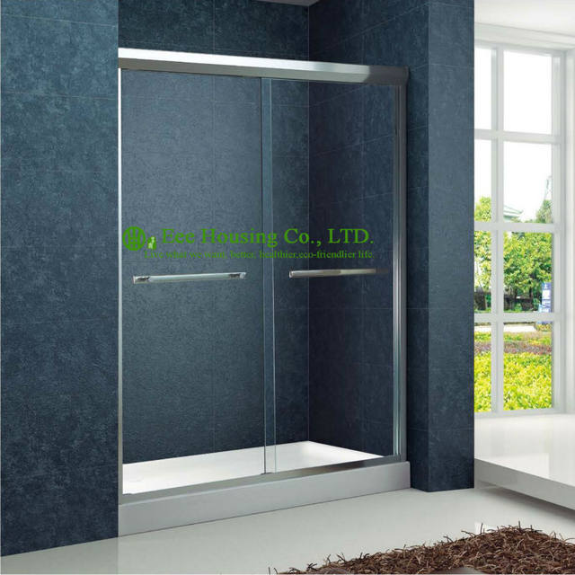 Online Shop Shower Room Double Sliding Aluminium Bypass Shower Doors