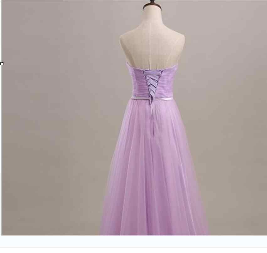 Robe De Soiree 2019 Mint Hijau/Ungu/Pleat Panjang Gaun Pengiring Pengantin Di Bawah 50 Pesta Pernikahan Gaun Vestido De noche Gaun Prom