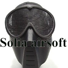Airsoft Full Face No Fog Goggle Mask Paintball Wargame Black For Hunting