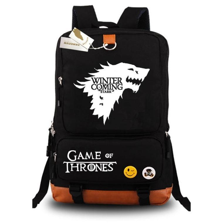 Game of Thrones Ice and Fire backpack for teenagers Men women's Student School Bags travel Shoulder Bag Laptop Bags book bag new game of thrones anime ice and fire backpack shoulder school bag package cosplay 45x32x13cm