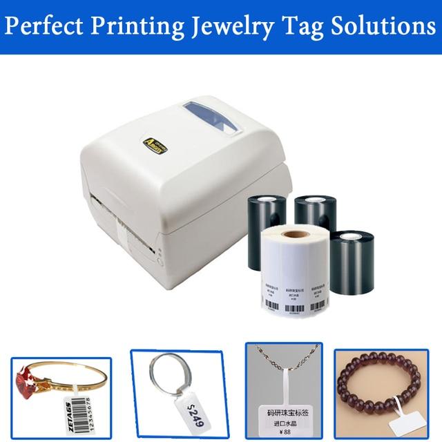 Perfect Jewelry tag printing solution 300DPI barcode printer machine ...