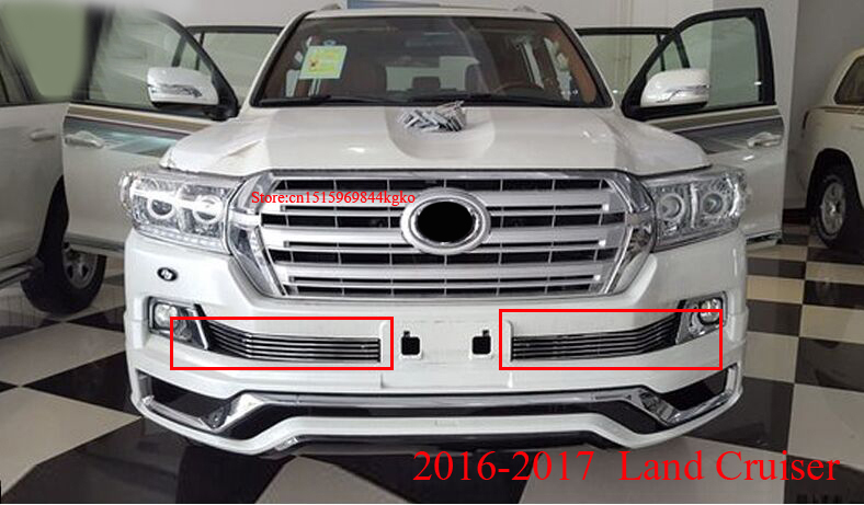 2012 2013- 2017 Stainless Steel Front Grille For Toyota Land Cruiser 200 FJ200 Accessories  Toyota Land Cruiser