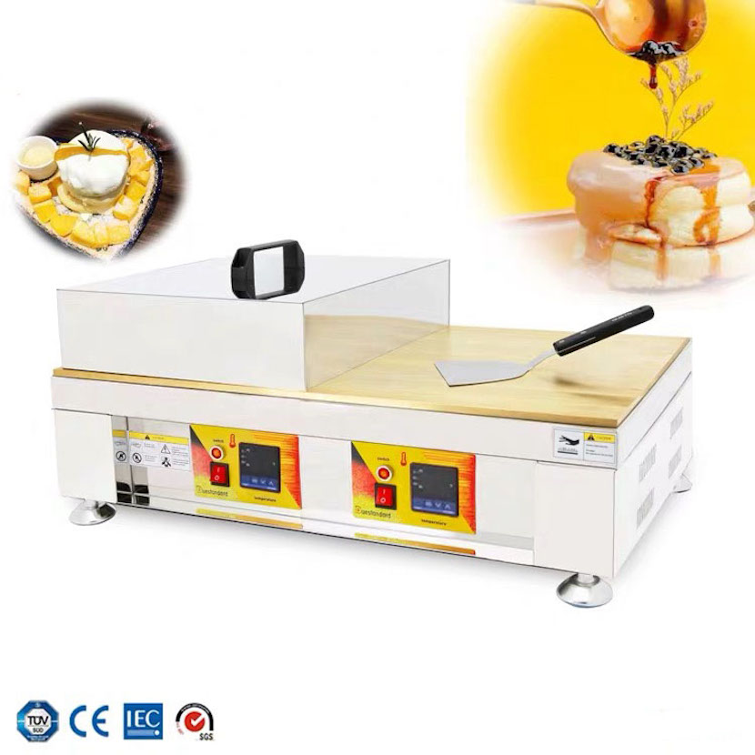 Commercial Digital Display Temperature Control Souffler Pancake Maker Copper Plate Electric Griddle Pan Coffee Shop Equipment Waffle Makers Aliexpress