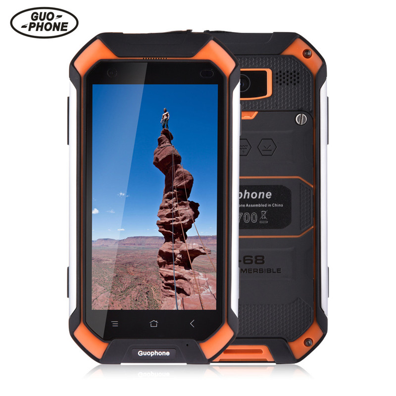 Guophone V19 smartphone 4.5 inch 2GB 16GB IP68 waterproof shockproof phone MTK6580 Quad Core GPS 3G Android smartphone