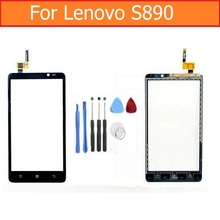 Black and White 100% New Top quality Touch Screen Digitizer Assembly For Lenovo S890 5.0″ Touch screen with Flex + Repair TOOLS