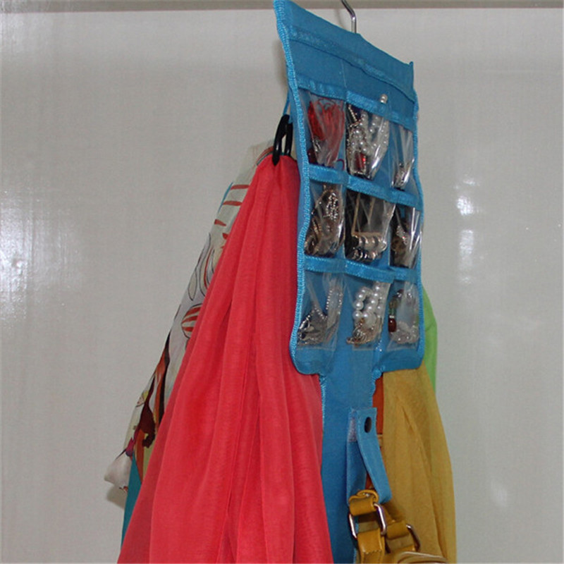 Hanger organizer Jewelry Bag Organizer Door Hanging Closet Space