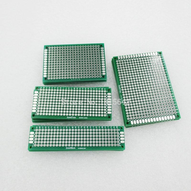 20pcs Double Sided PCB Board Breadboard Prototype Kit DIY 4x6 5x7 6x8 7x9cm