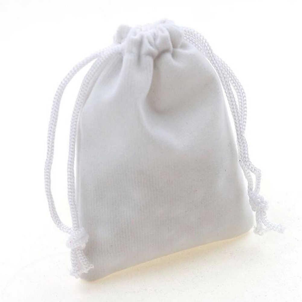 10 Uds bolsas de almacenamiento de terciopelo bolsa de regalo de boda bolsa de embalaje de joyería bolsa de regalo nuevo