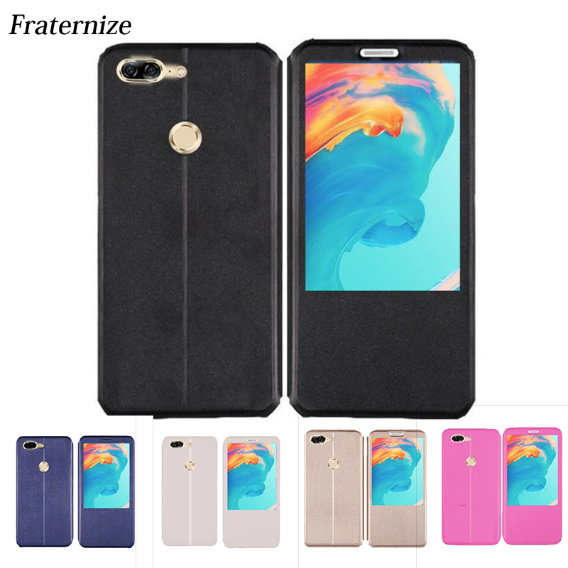 OnePlus 5T Leather case Window flip Cover For OnePlus 5T A5010 Stand shockproof Silicone Full Back cover For OnePlus 5 Coque