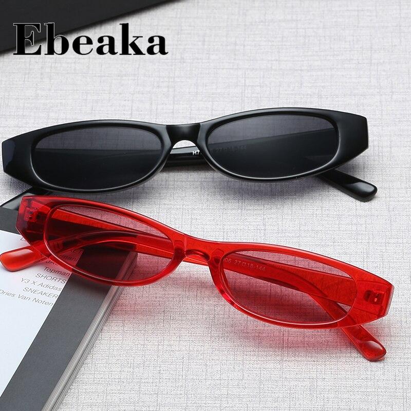 Ebeaka Brand Designer Oval Sunglasses Women Trendy play cool  Sunglasses Small Frame ladies Sun Glasses oculos de sol