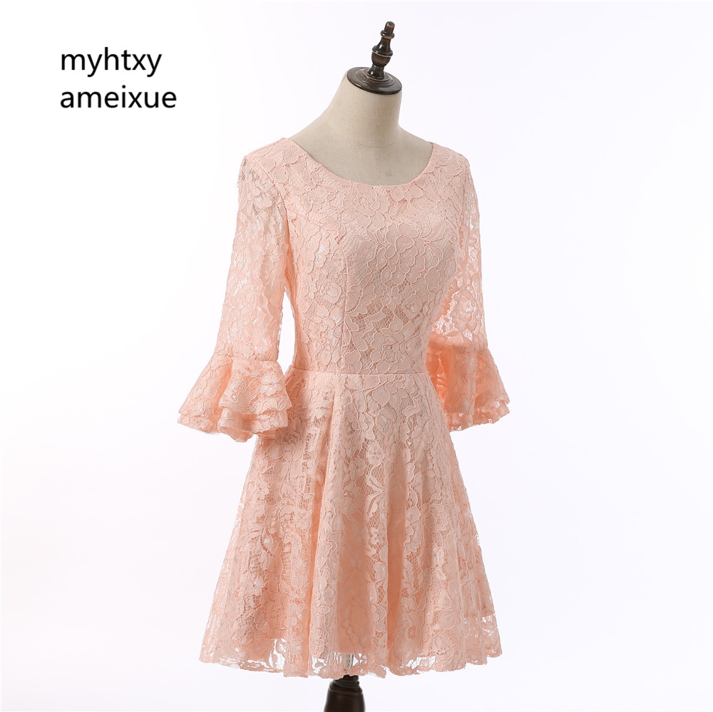 Evening Dress Abendkleider Hot Sale Half Sleeve Short
