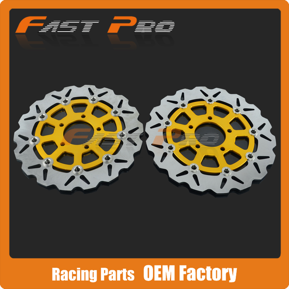1 Pair Front Floating Brake Disc Rotor For Suzuki GSX600F 03-06 GSX750F 04-06 Katana GSF650 Bandit 05-06 SV650 S650 03-09 keoghs motorcycle brake disc brake rotor floating 260mm 82mm diameter cnc for yamaha scooter bws cygnus front disc replace