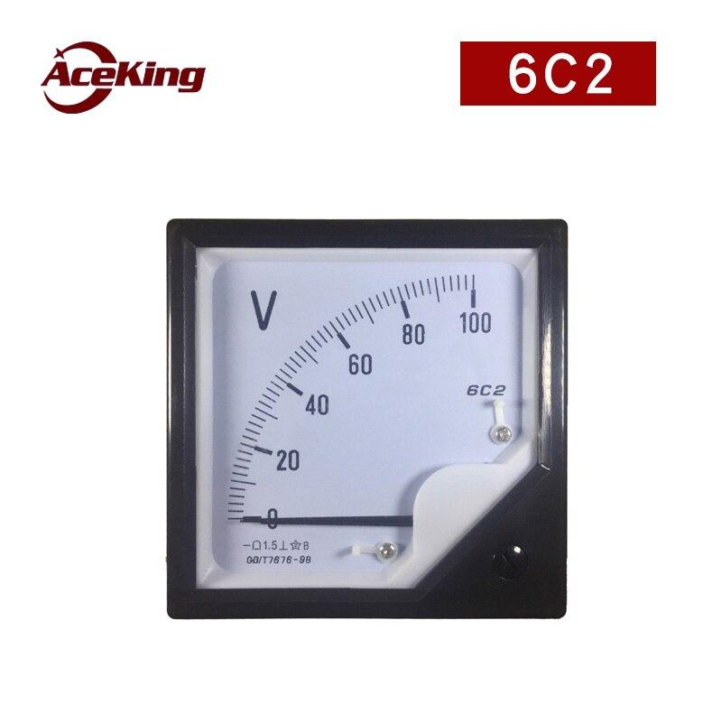 Installation type board meter 6c2-a dc ammeter mechanical pointer 15A digital 50v 100v 250v 600v