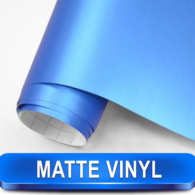 New Arrival  Deep Blue TM1413 Matte Vinyl Car Wrap Size 1.52x30m with Air Channels Designed for Car Styling Free Shipping
