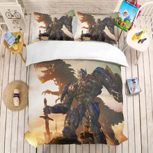 Avatar 3D bedding set Duvet Covers Pillowcases Transformers Optimus Prime Bumblebee comforter bedding sets bedclothes bed linen(China)