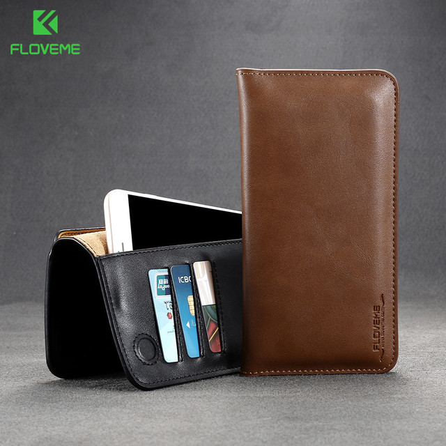 FlOVEME Wallet Phone Case Cover For Samsung Galaxy A3 A5 A7 J5 J7 S6 S7 Edge Prime 2017 2016 Wallet For iPhone 6 7 6S Plus Case