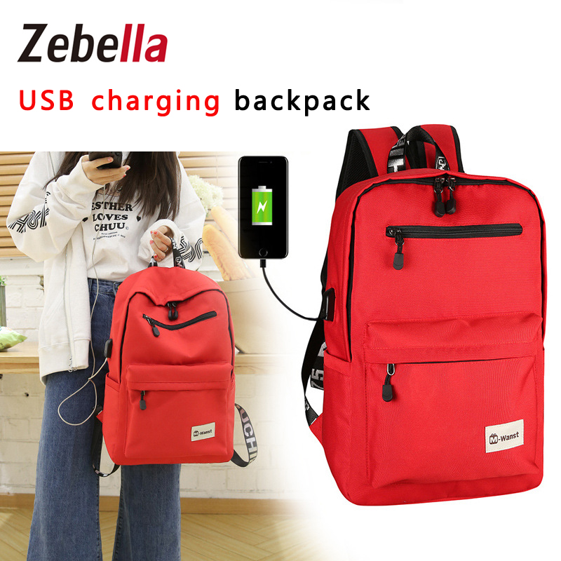 Designer USB Charging Canvas School Backpack Women Causal Travel Bag Men Shoulder Bags kanken mochila masculina sac a dos 2017 new fashion designer women backpack women travel bags vintage school shoulder bag motorcycle bag mochila feminina