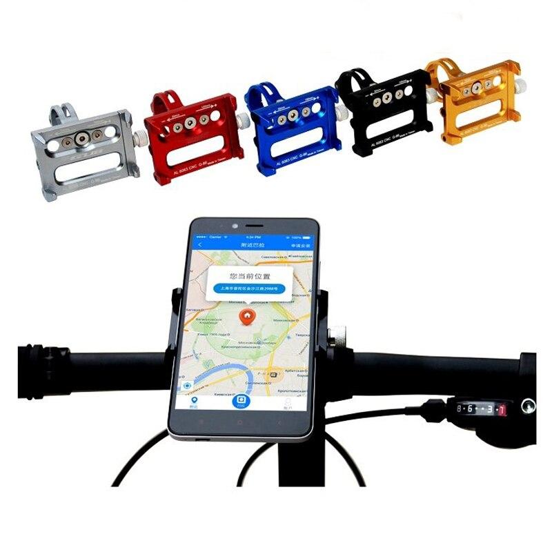 Prix pour CNC En Alliage D'aluminium Scooter Téléphone Titulaire Handbar Clip Fixation du Support électrique Planche À Roulettes Vélo Support pour Téléphone 3.5 à 6.2 pouce GPS