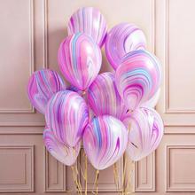Globo de látex tipo ágata de mármol de Navidad, globo marblezided, decoración de fiesta de cumpleaños, globos de látex para fiesta de bienvenida para el futuro bebé niños, fiesta #05