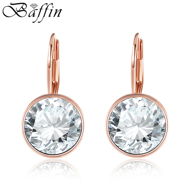 BAFFIN Classic Bella Stud Earrings Original Crystals From Swarovski Rose  Gold Color Earrings For Women Wedding 316f8ef536