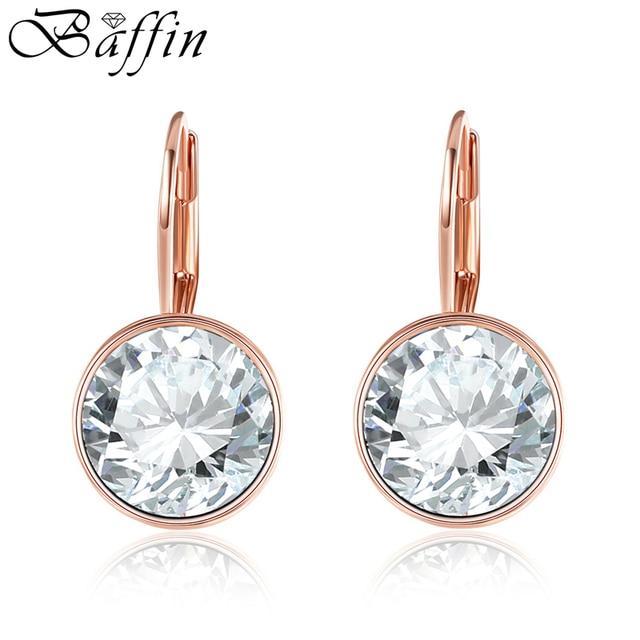 c7e6afa651e7 BAFFIN clásico Bella pendientes cristales originales de Swarovski Rose  pendientes de Color de oro para las