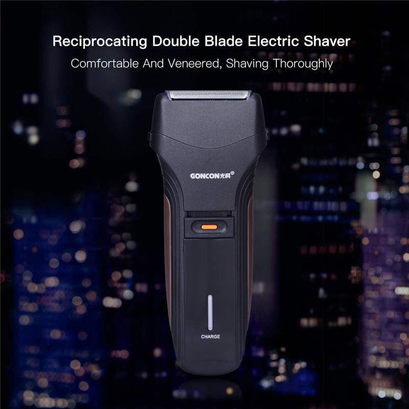 Brand Twin Blade Reciprocating Electric Rechargeable Shaver Razor Shaving Machine with Washable Head Pop-up Trimmer Travel Use durable pritech rsm 1308 360 degree blad pole head rechargeable electric shaver razor style man reciprocating knife newest